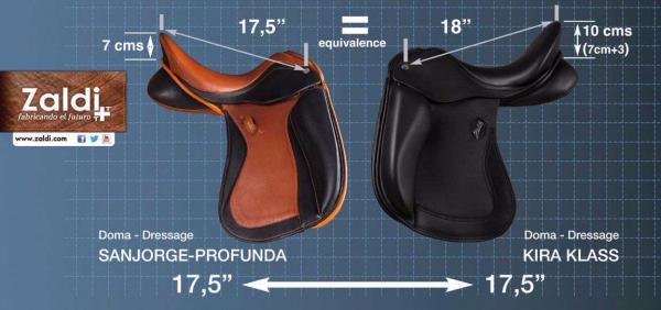 saddle seat size deep seat