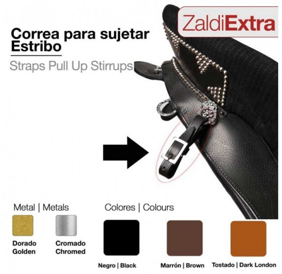 01027130 Leather Stirrup Pick up Straps