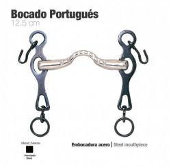 21013127 Oiled Portuguese bit with steel mouth