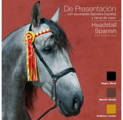 21019340 Presentation Halter with Spanish Ribbon