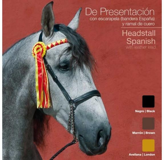 21019340 Presentation Halter with Spanish Ribbon