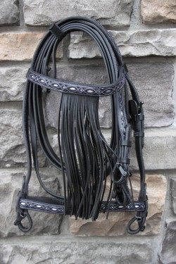 21019128 Spanish Repujada Bridle