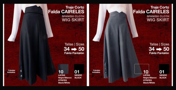2100809 Ladies Spanish Split skirt